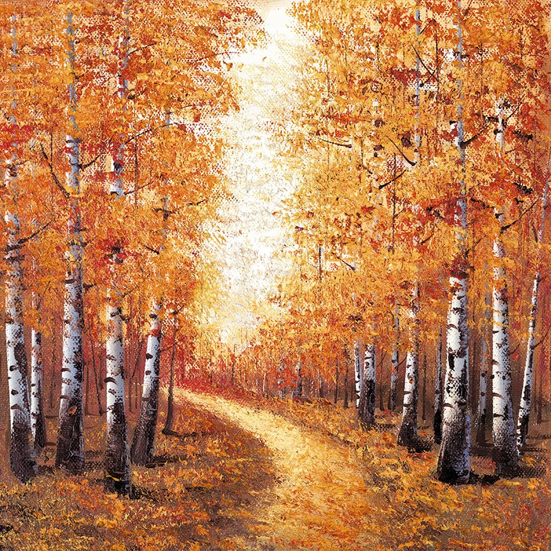 Season of Gold by Inam -  sized 12x12 inches. Available from Whitewall Galleries